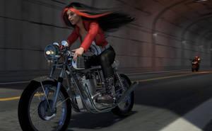 Catalina Bike Chase by gymfritz