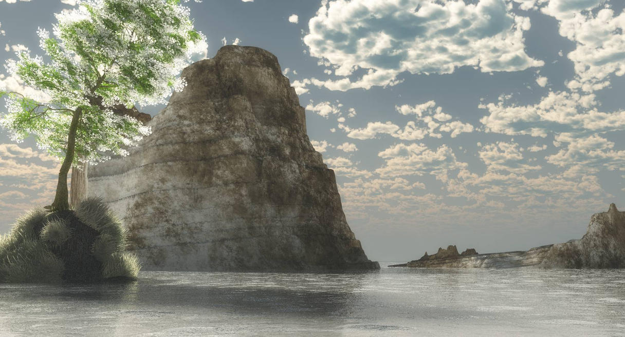treeonrock120913C by fractal2cry