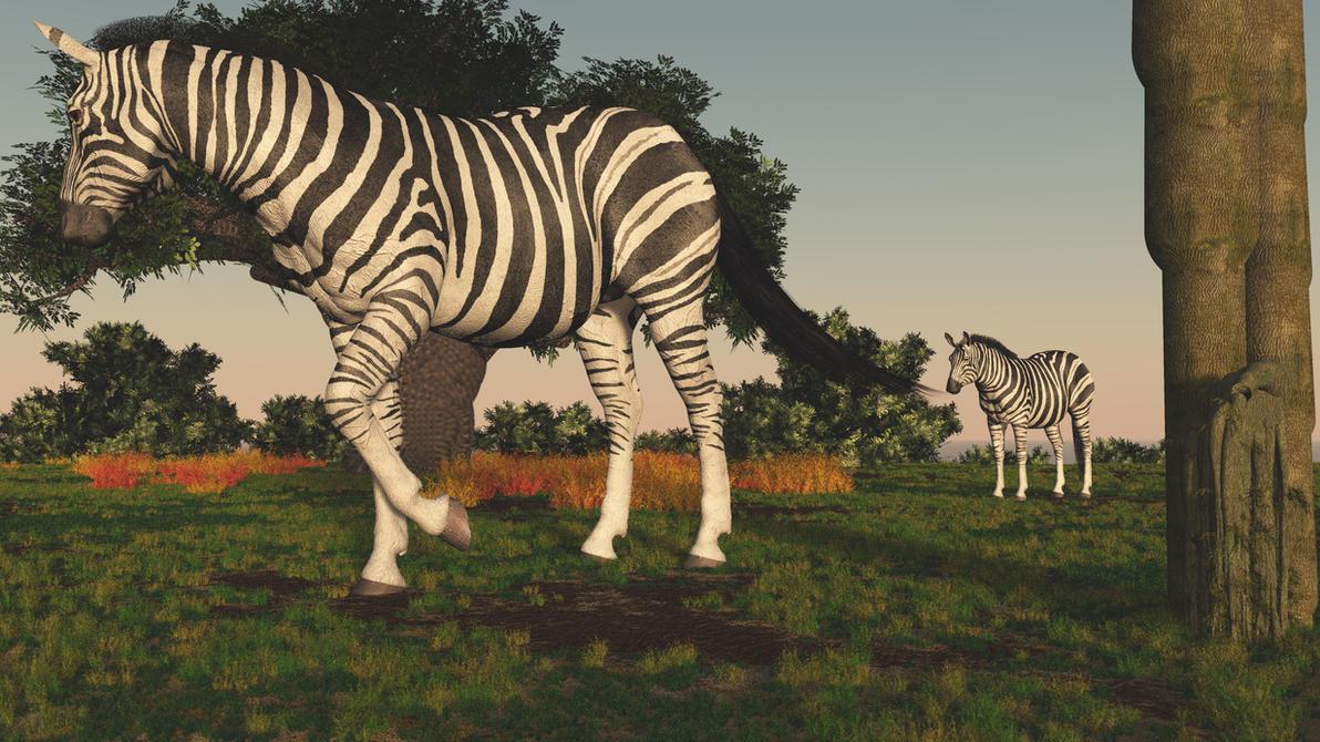 Zebras roam by fractal2cry