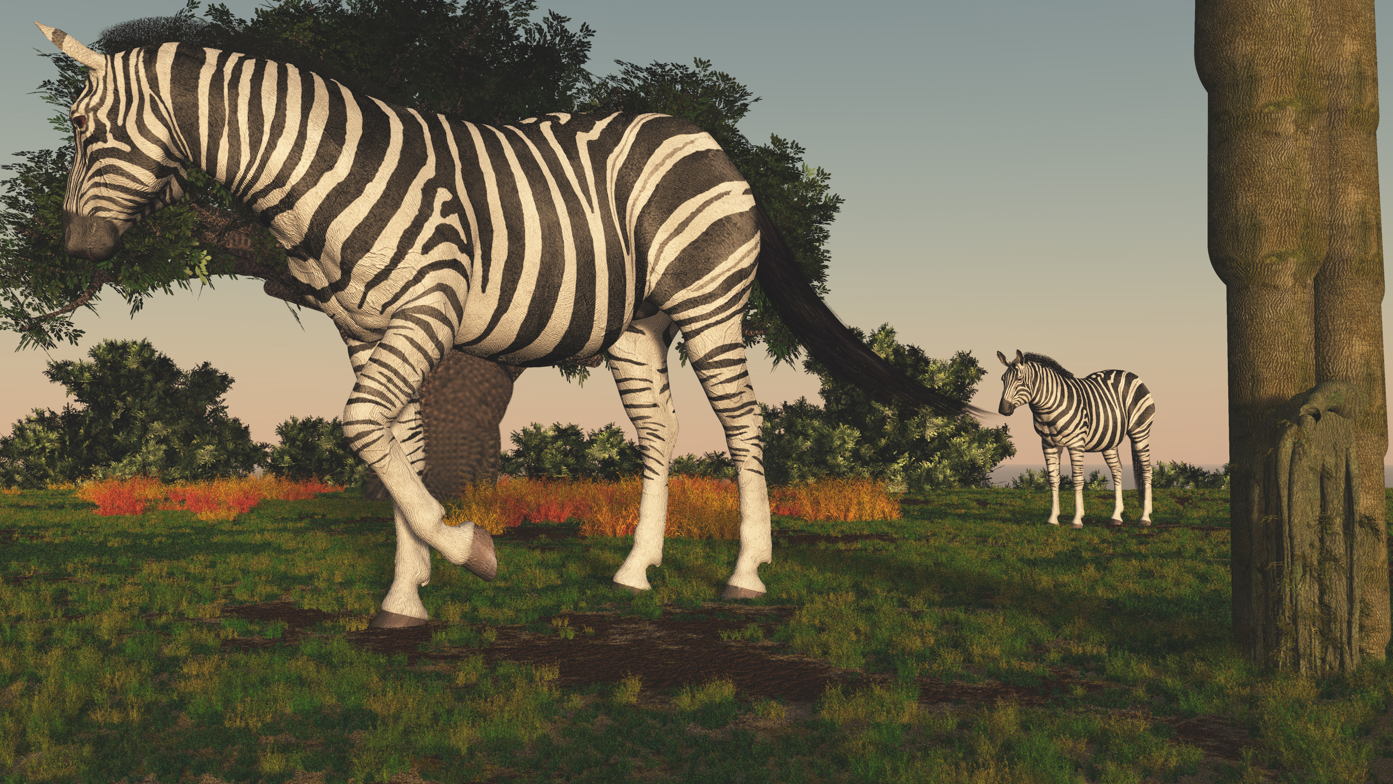 Zebras roam by fractal2cry