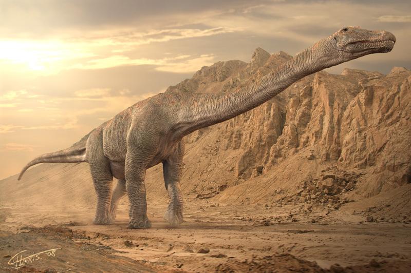 Australian Titanosaur by Juravenator