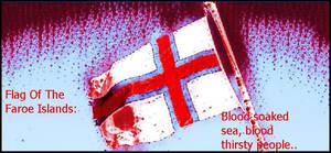 flag of Faroe Islands- which belongs to Denmark