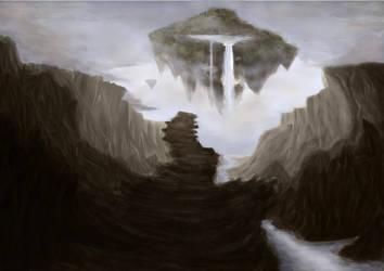 Flying Island [Version 1] by mad-Panda-Lady