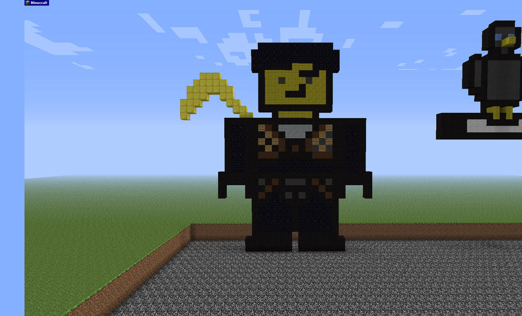 cole ninja of earth in minecraft by wolfiegal111 on