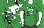 Danny Phantom Shirt: Paintbrush