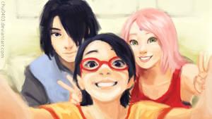 Uchiha Family Selfie