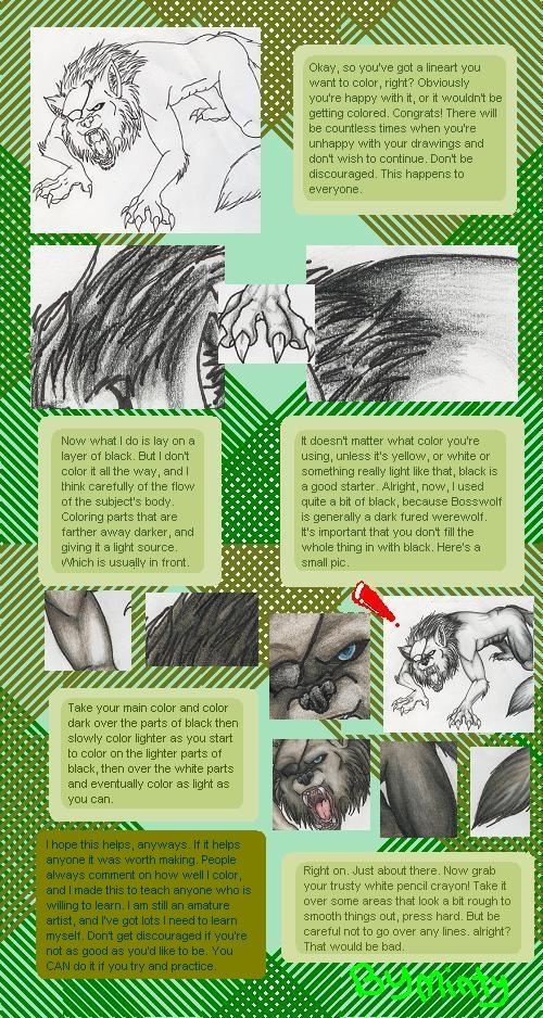 Traditional coloring tutorial. by MintMongoose on DeviantArt