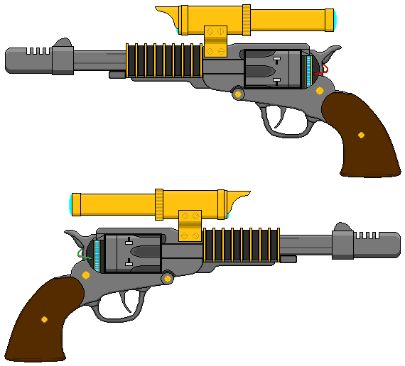 Steampunk EM Railgun Revolver by gryphonarts