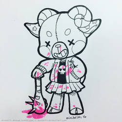 Inktober Day 4: Stitched Monster by minibritti