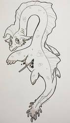 Inktober Day 6: Sea Monster by minibritti