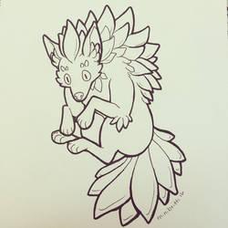 Inktober Day 9: Plant Monster by minibritti