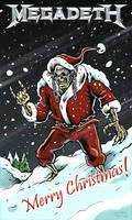 Megadeth Christmas Card 2010 by Noumier