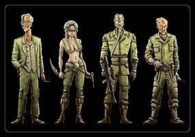 Zombie Concept Art by Noumier