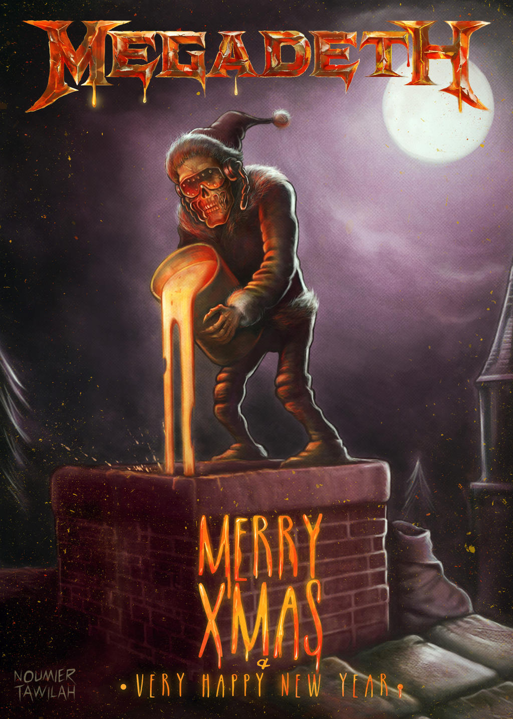 Megadeth Christmas Card 2015 by Noumier