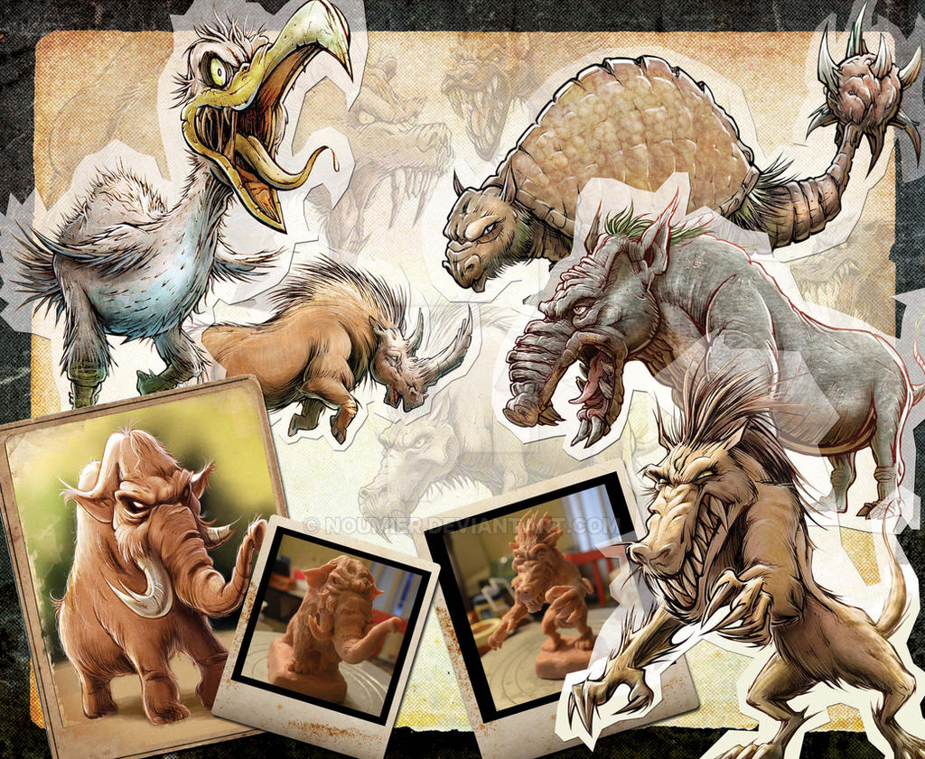 Prehistoric Animals by Noumier