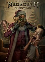 Megadeth Christmas Card 2018