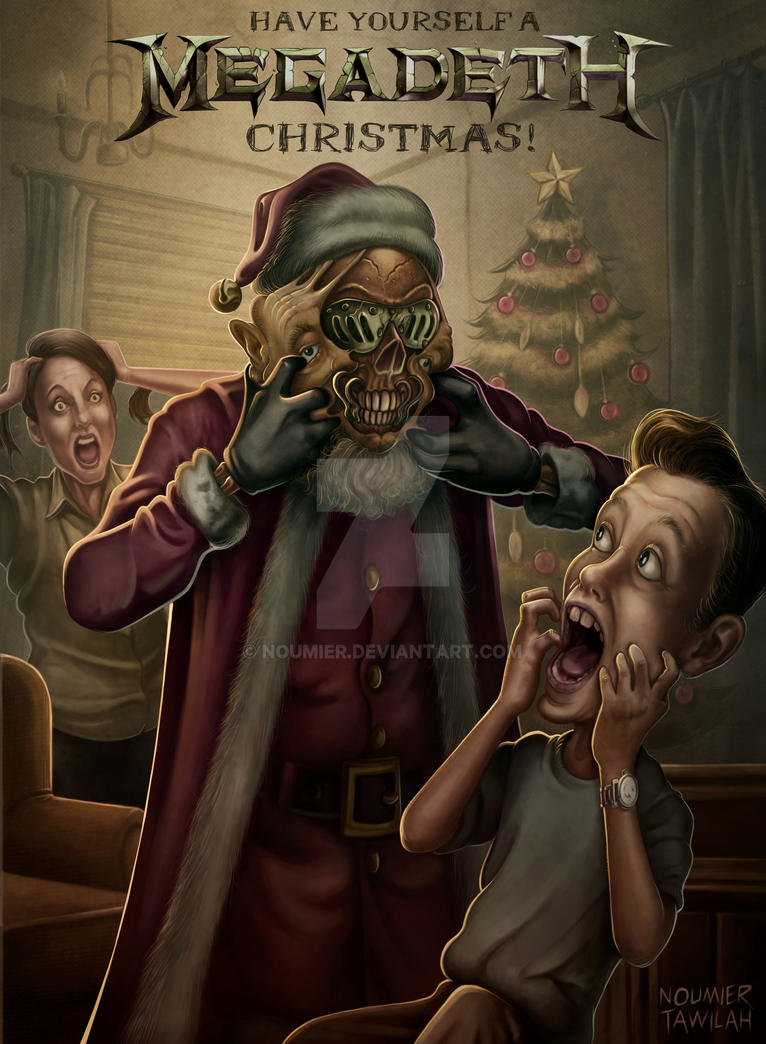 Megadeth Christmas Card 2018 by Noumier