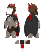 Monster!Ghirahim armour set by GoldieClaws