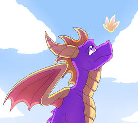Anyways, Here's a Famous Purple Dragon by GoldieClaws