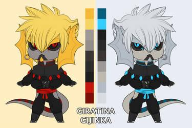 Giratina Gijinka Reference Sheet by GoldieClaws