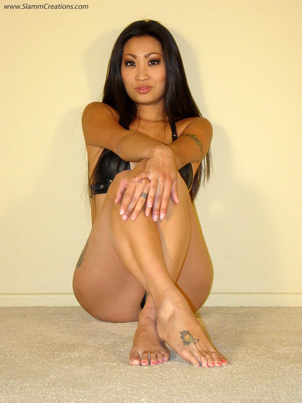 Nicole Oring - Black Leather Bikini by slamm345
