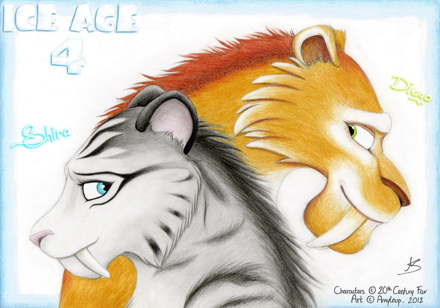 Ice age 5 diego and shira cubs