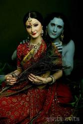 Radha Krishna by Santa-Evita