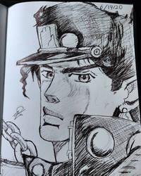 Sketch of Jotaro