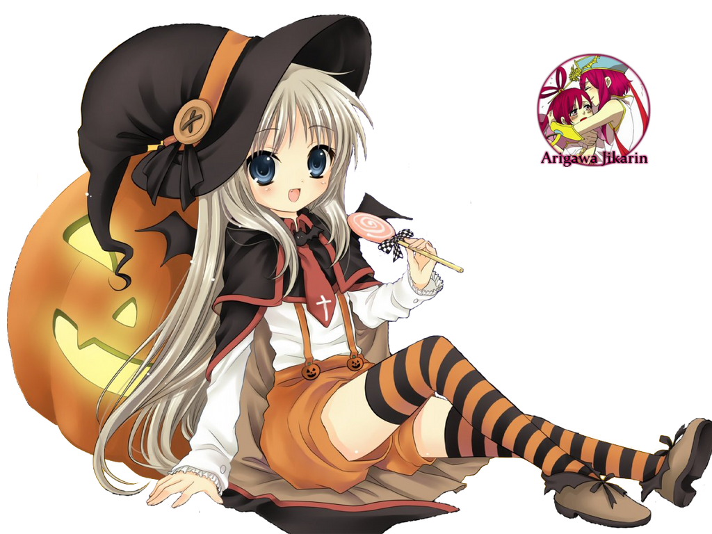 Render anime Girl Halloween By Jikarin117 by Jikarin-Chann on ...