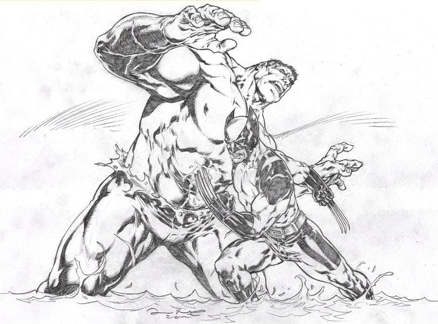 Wolverine VS Hulk By IwanNazif On DeviantArt