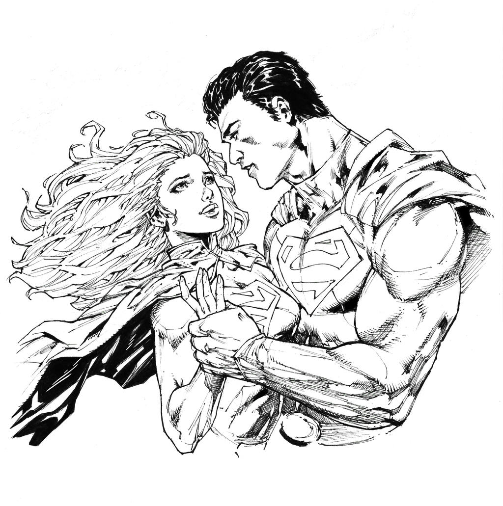 superman supergirl inked by iwannazif on deviantart