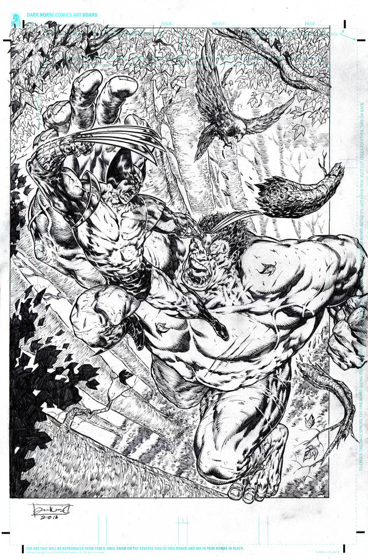 Wolverine VS Hulk by IwanNazif