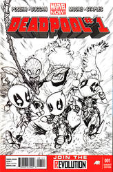 Deadpool  spiderman VS Gozilla by IwanNazif