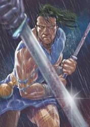 Samurai fighting by IwanNazif