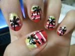 Sunset Nails 2