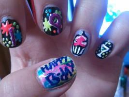 19 birthday nails by yushi25