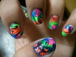 Neon Water Marble by yushi25