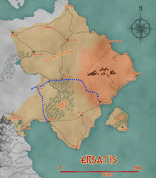 Aina - Ersatis Regional Map by KungFuAmadeus