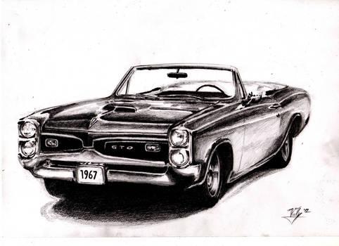 Pontiac GTO 1967 - drawing sketch