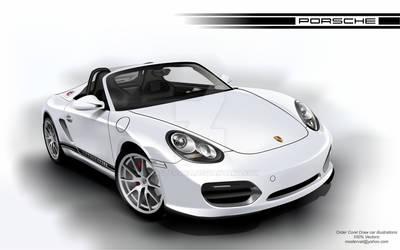 Porsche Boxter Vectorial Car - Corel Draw