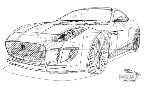 Jaguar F-type Vector - Outline -mastervali