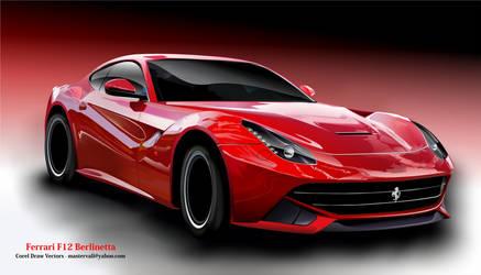 Ferrari F12 Berlinetta  Corel Draw Vector Car -