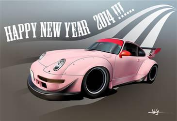 Porsche happy New year