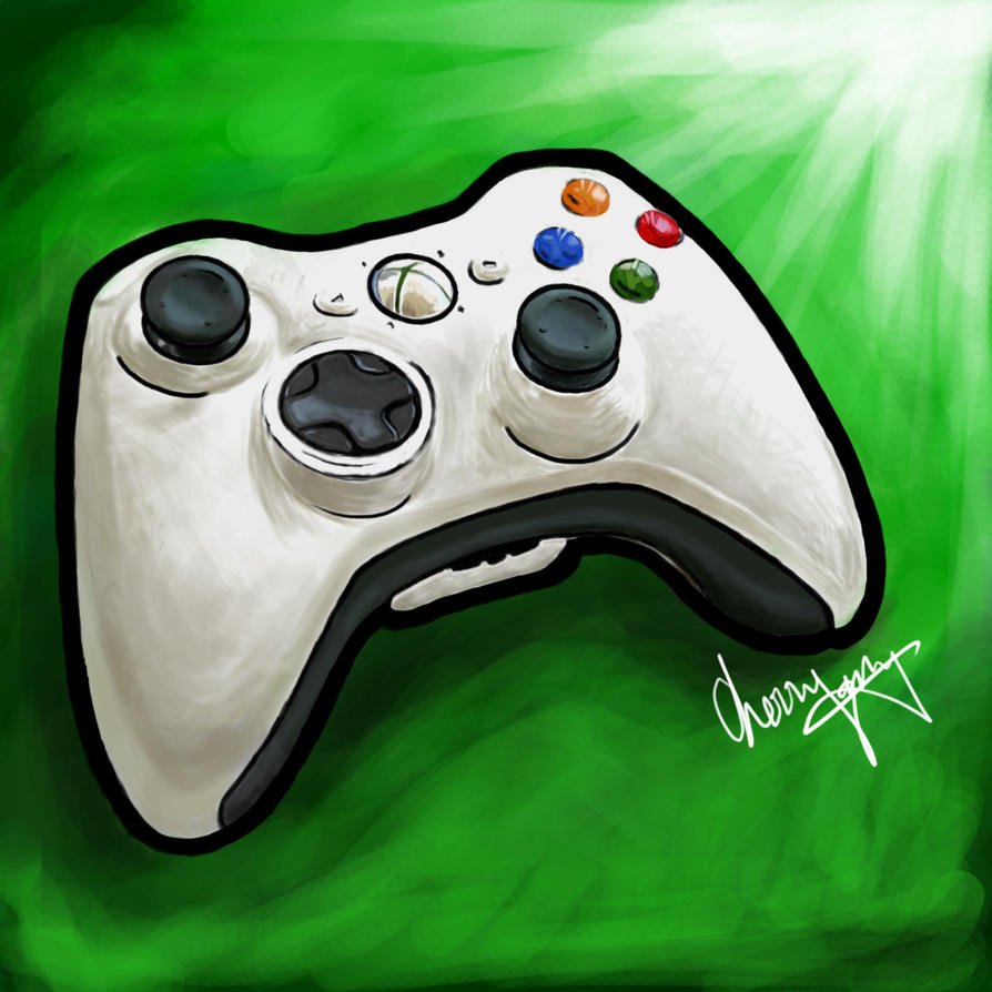 D Line Drawings Xbox : Xbox controller by chyeahbear on deviantart