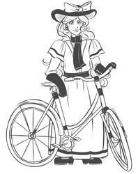 Gwen + bike by azarath