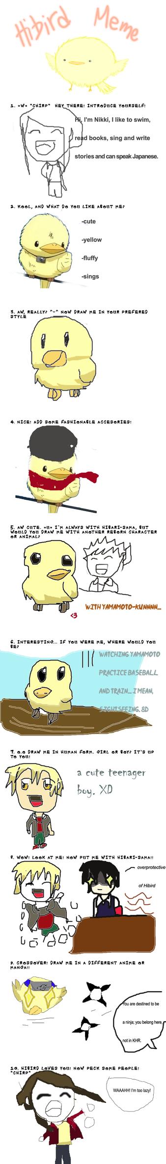 nikki-kun's Hibird meme by nejiHolic