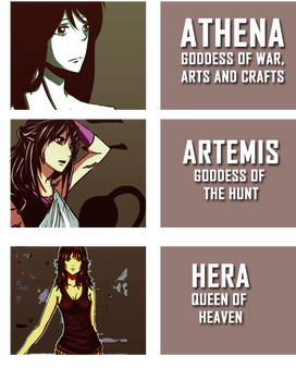 Zweeni's OCs + Greek Goddesses