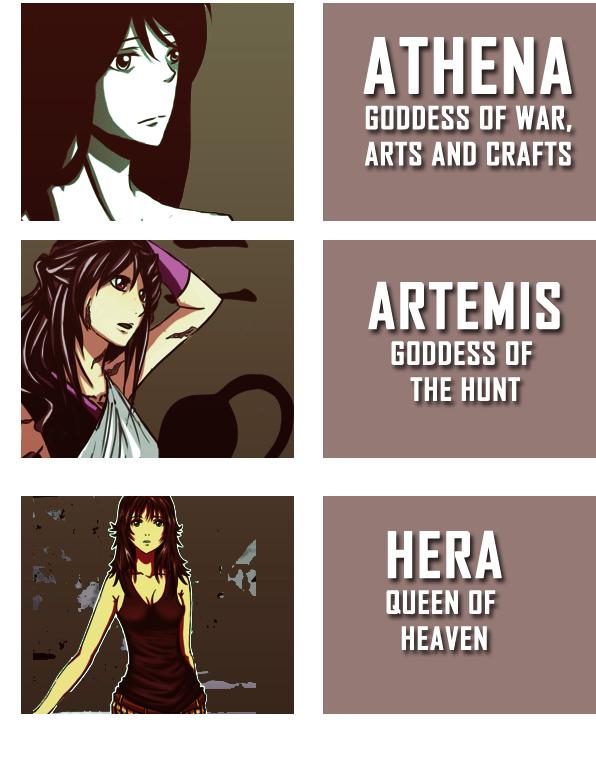 Zweeni's OCs + Greek Goddesses by nejiHolic