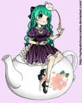 Loli on a tea pot