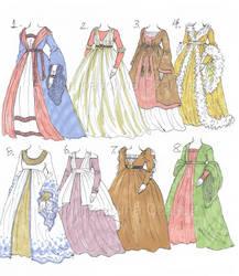 Maronna's Unused Costumes [part 1] by Michelangeline